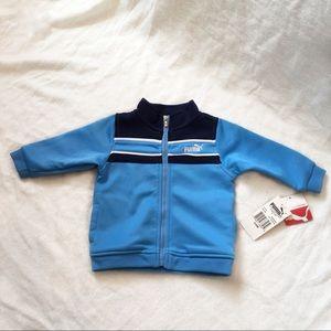 [PUMA]Kids Zipper Sports Jacket w Pocket Size 3-6M